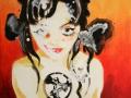 Drusilla 2014 · Acryl auf Leinwand/Holz · 60x50 cm