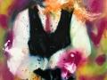 Portrait of a Man in Dark Blue 2019 · Acryl auf Leinwand · 100x80 cm