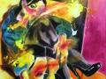 Portrait of a Lady in Yellow 2019 · Acryl auf Leinwand · 100x80 cm
