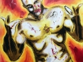 Und GOTT sah 2019 · Acryl auf Leinwand · 100x80 cm