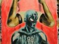 gott, Götter, GOTT GORDAN 2016 · Acryl auf Leinwand · 150x98 cm